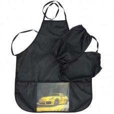 Фартук с нарукавниками ArtSpace SportCar-2, 3 кармана, черный