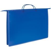 Папка для чертежей и рисунков А3 ArtSpace, синий, пластик, на молнии с ручками