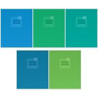 Тетрадь 48л клетка Моноколор. Blue&Green