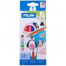 Цветные карандаши 12 цв. Milan 231, трехгран., заточен.