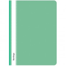 Папка-скоросшиватель пластик А4, 180мкм, зеленая с прозр. верхом