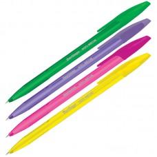 Ручка шарик. синяя 1мм Berlingo H-20 Neon, корпус ассорти