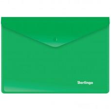 Папка-конверт на кнопке А5+ Berlingo, 180мкм, зеленая