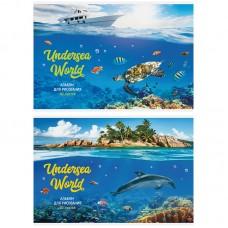 Альбом 40л А4 на скрепке Природа. Подводный мир