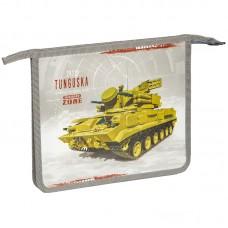 Папка для тетрадей А5 1 отделение Военная техника, пластик, на молнии