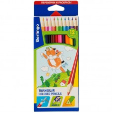 Цветные карандаши 12 цв. Berlingo Жил-был кот, трехгран., заточен.