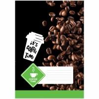 Тетрадь А4 80л клетка Coffee time, выборочный уф-лак