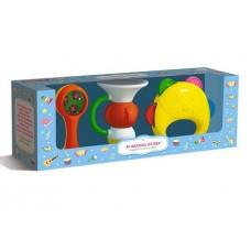 Набор Музыкальные игрушки №1 (Дудочка, маракас, бубен)