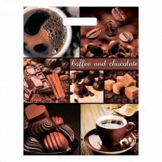 Пакет 31*40 см 60мкм Кофе и шоколад, п/э с вырубной ручкой