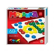 Мозаика d20 4 цвета, 60 шт., 1 поле 23*20*3,5 см.