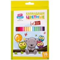 Цветные карандаши 18 цв. ArtSpace Совята, заточен.