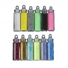 Блёстки для декора мелкие, цвет ассорти