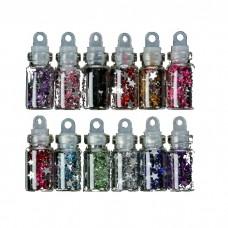 Декор для творчества Звёздочки (маленькая бутылочка), цвет ассорти