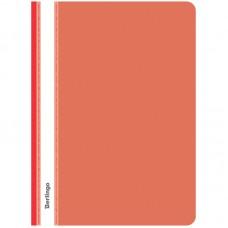 Папка-скоросшиватель пластик А4 Berlingo 180мкм, красная с прозр. верхом