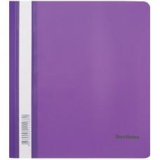 Папка-скоросшиватель пластик А5 Berlingo, 180мкм, фиолетовая с прозр. верхом