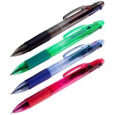 Ручка шарик. автоматическая OfficeSpace 4цв., 0,7мм, грип