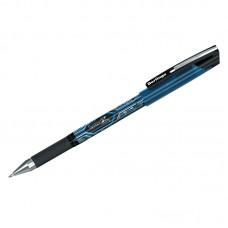 Ручка гелевая черная 0,5мм Berlingo SystemX, грип