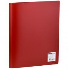 Папка А4 с 30 вкладышами (файлами) OfficeSpace, 21мм, 400мкм, красная