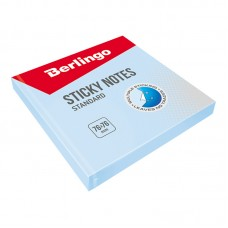 Самоклеящийся блок 76*76мм 100л Berlingo Стандарт, голубой