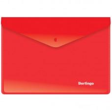 Папка-конверт на кнопке А5+ Berlingo, 180мкм, красная