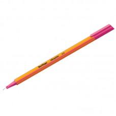 Ручка капиллярная Berlingo Rapido розовая, 0,4мм, трехгранная