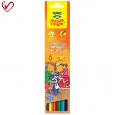 Цветные карандаши 06 цв. Мульти-Пульти Енот в Испании, трехгран., заточен.