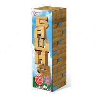 Игра Башня 54 детали в картонной коробке (дерево)