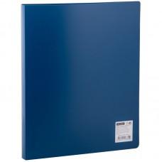 Папка на 2 кольцах А4 OfficeSpace 25мм, 500мкм, синяя