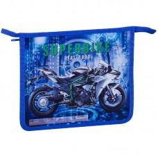 Папка для тетрадей А5 1 отделение ArtSpace Super bike, картон/пластик, на молнии