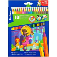 Цветные карандаши 18 цв. Berlingo Цирк, пластиковые, заточен.