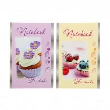 Блокнот А6 24 листа на скрепке Fruitcake, микс