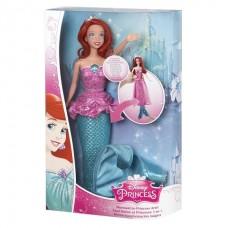Кукла Принцесса Диснея - Ариэль (превращается из Русалочки в Принцессу)