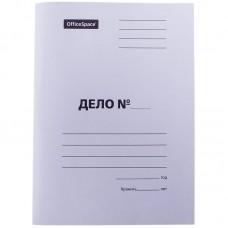 Папка скоросшиватель Дело, картон немелованный, 320г/м2, белый, пробитый, до 200л.