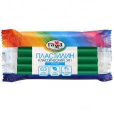 Пластилин Гамма Классический, зеленый, 50г