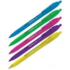 Ручка шарик. синяя автомат. 0,7мм Berlingo Triangle 110 RT Color, трехгран., игольчатый стержень