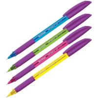 Ручка шарик. синяя 0,7мм Berlingo Triangle 110 Color, грип, корпус ассорти