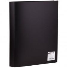 Папка А4 с 40 файлами OfficeSpace, 21мм, 400мкм, черная