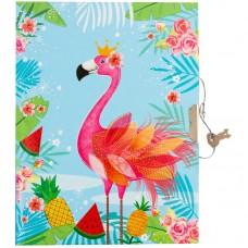 Записная книжка B6 64л. Flamingo, метал. замок