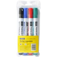 Набор маркеров для белых досок 4цв. OfficeSpace, пулевидный, 2,5мм