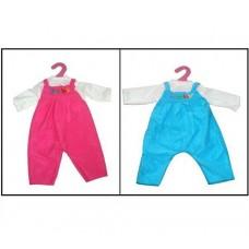 Одежда для кукол: комбинезон (розовый/голубой цвет), 25x1x38см