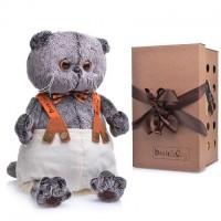 Мягкая игрушка Кот Басик в штанах с подтяжками, 25 см