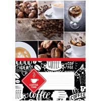 Тетрадь А4 80л клетка BG Coffee time, выборочный уф-лак