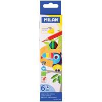 Цветные карандаши 06 цв. Milan 211, заточен.
