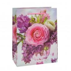Пакет подар. (больш.) Весенние цветы, 32 х 11 х 44 см