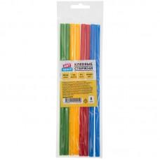Клеевые стержни, диаметр 7мм, длина 200мм, цветные, набор 8шт.