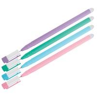 Ручка гелевая стираемая OfficeSpace Soda синяя, 0,5мм, антискол. корпус ассорти
