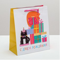 Пакет подар. (средн.) Поздравляю С Днём Рождения!, ламинированный 23 × 27 × 11,5 см