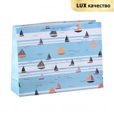 Пакет подар. (больш.) Корабли, ламинированный, люкс, 42 х 12 х 31 см
