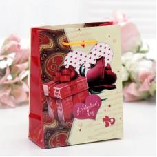 Пакет подар. (мал.) День святого Валентина, ламинированный, 12 х 15 х 5 см