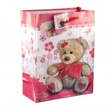 Пакет подар. (средн.) Медвежонок Тедди, ламинированный, 18 х 23 х 8,5 см